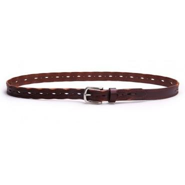 Genuine Cowhide Leather Belt Brown 86311