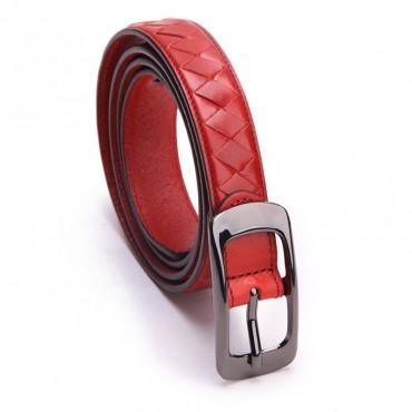 Genuine Cowhide Leather Belt Orange 86313