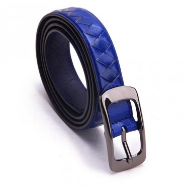 Genuine Cowhide Leather Belt Blue 86313