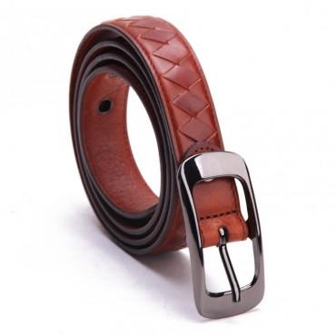 Genuine Cowhide Leather Belt Brown 86313
