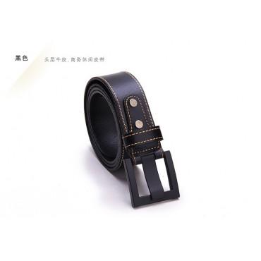 Genuine Cowhide Leather Belt Black86314