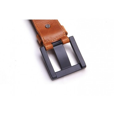 Genuine Cowhide Leather Belt Brown 86314