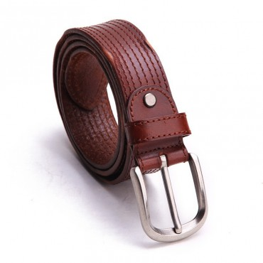 Genuine Cowhide Leather Belt Brown 86315
