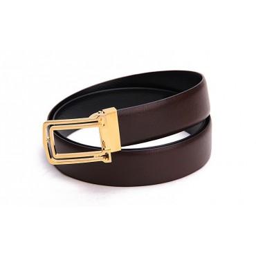 Genuine Cowhide Leather Belt Brown 86318