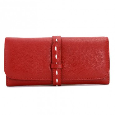 Rosaire « Geralda » Women's Wallet Genuine Cow Leather Red 15983