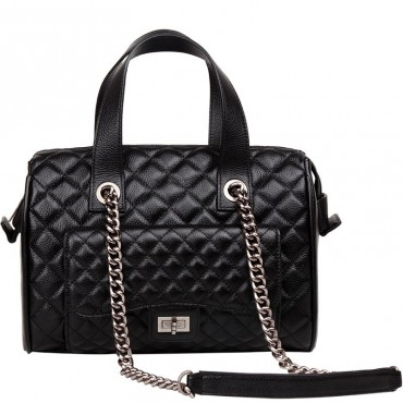 Rosaire Genuine Leather Bag Black 76116