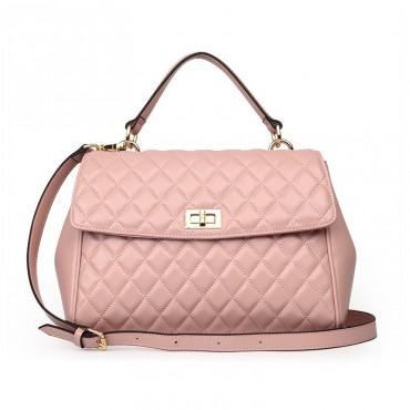 Rosaire Genuine Leather Bag Pink 76117