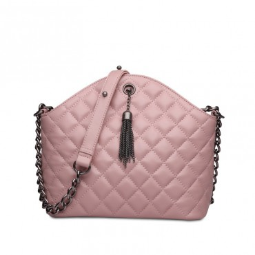Rosaire Genuine Leather Bag Pink 76118