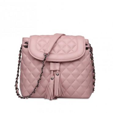 Rosaire Genuine Leather Bag Pink 76120