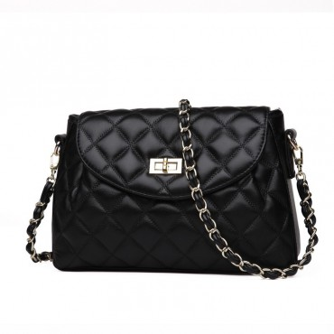Rosaire Genuine Leather Bag Black 76121