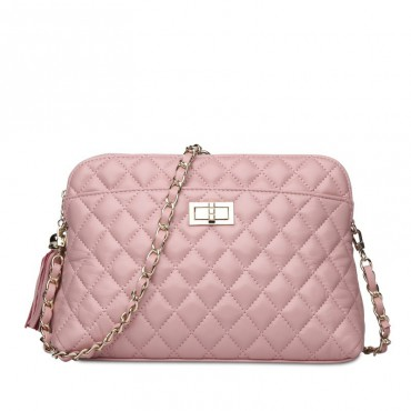Rosaire Genuine Leather Bag Pink 76122