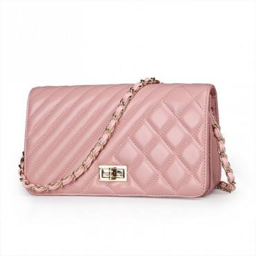 Rosaire Genuine Leather Bag Pink 76124