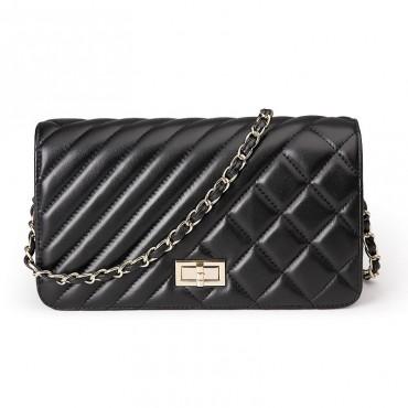 Rosaire Genuine Leather Bag Black 76124