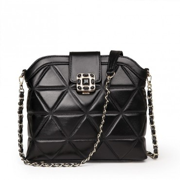 Rosaire Genuine Leather Bag Black 76119