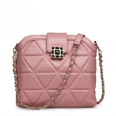 Rosaire Genuine Leather Bag Pink 76119