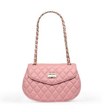 Rosaire Genuine Leather Bag Pink 76126