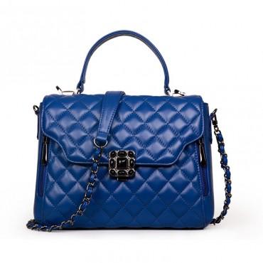 Rosaire Genuine Leather Bag Drak Blue 76127