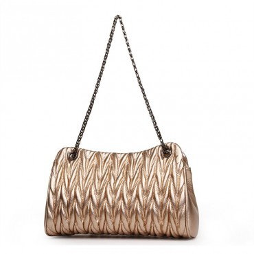 Rosaire Genuine Leather Bag Gold 76132