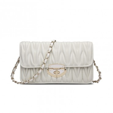 Rosaire Genuine Leather Bag White 76133