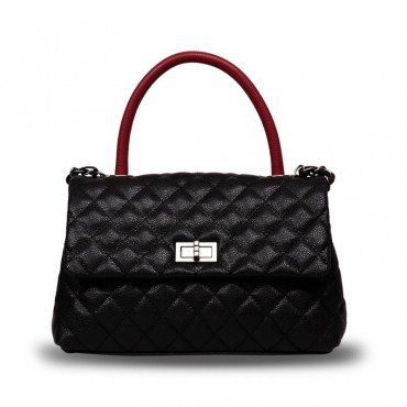 Rosaire Genuine Leather Bag Black 76139