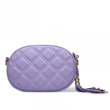 Rosaire Sac à main porté épaule en cuir Violet 76116