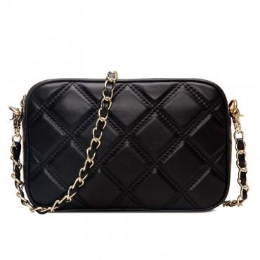 Rosaire Genuine Leather Bag Black 76144