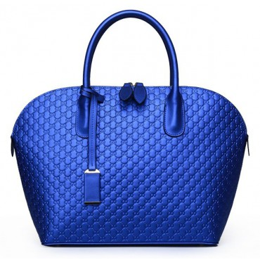 Tosca Genuine Leather Tote Bag Blue 75144