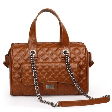 Rosaire Genuine Leather Bag Brown 76116
