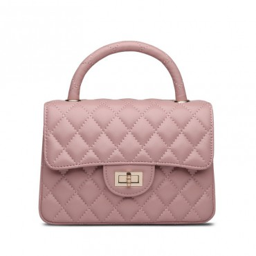 Rosaire Genuine Leather Bag Pink 76153