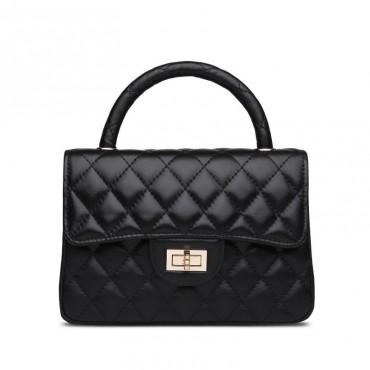 Rosaire Genuine Leather Bag Black 76153