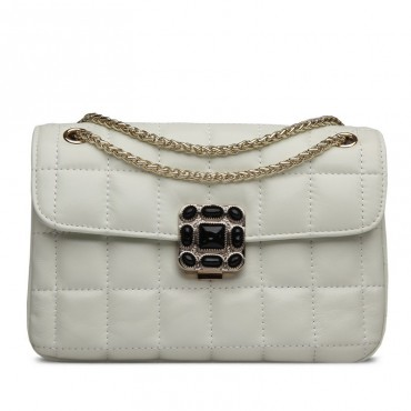Rosaire Genuine Leather Bag Beige 76180