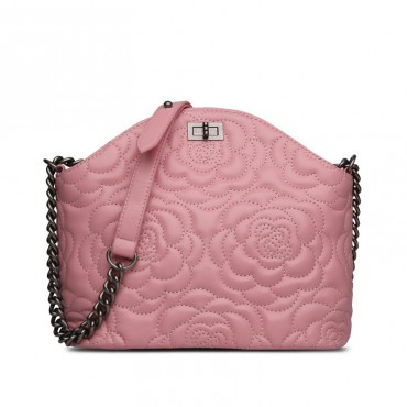 Rosaire Genuine Leather Bag Pink 76182