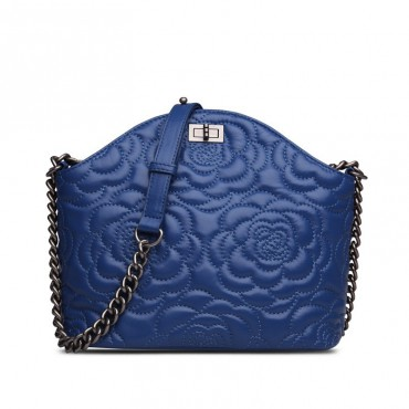 Rosaire Genuine Leather Bag Blue 76182