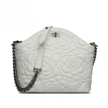 Rosaire Genuine Leather Bag Beige 76182