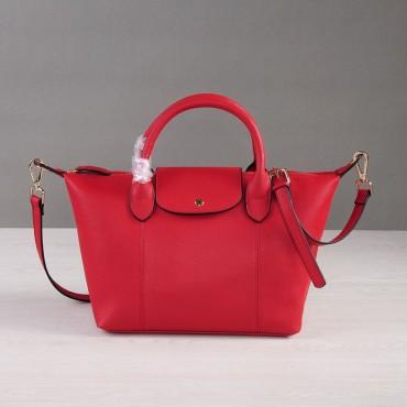 Rosaire Sac à main porté épaule en cuir Rouge 76185