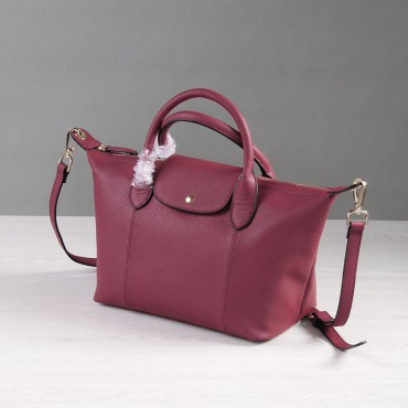 Rosaire Genuine Leather Handbag dull red 76185
