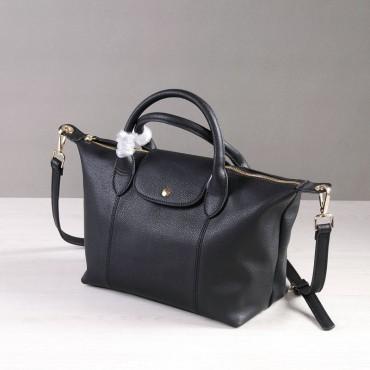 Rosaire Sac à main porté épaule en cuir Noir 76185