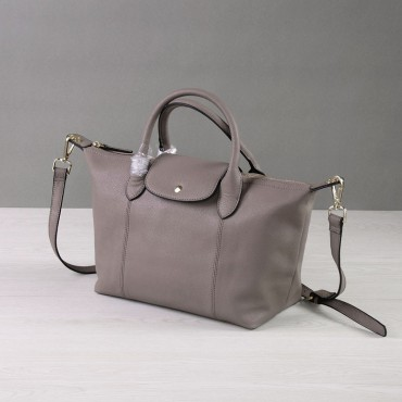 Rosaire Genuine Leather Handbag gray 76185