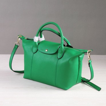 Rosaire Genuine Leather Handbag green 76185