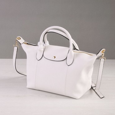 Rosaire Genuine Leather Handbag white 76185