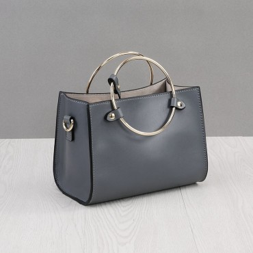 Rosaire Genuine Leather Handbag grey 76186