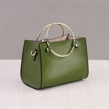 Rosaire Genuine Leather Handbag green 76186