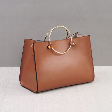 Rosaire Genuine Leather Handbag brown 76186