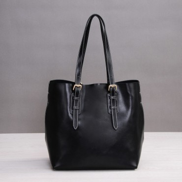 Rosaire Genuine Leather Handbag black 76188