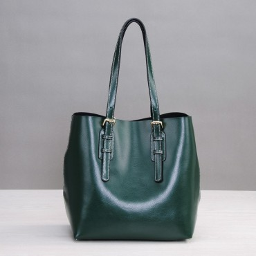 Rosaire Genuine Leather Handbag green 76188