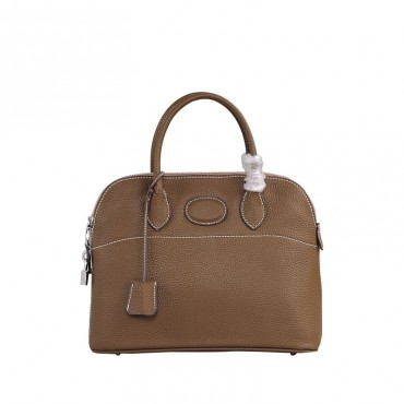 Rosaire « Abigaelle » Top Handle Bag Made of Cowhide Leather in Brown Color 76199
