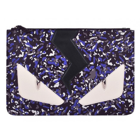 Rosaire « Fantasma » Thunder Monster Eyes Clutch Leather Bag Multicolor 76220