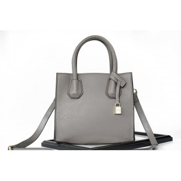 Eldora Genuine Leather Tote Bag Grey 76235