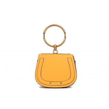 Eldora Genuine Leather Tote Bag Yellow 76344