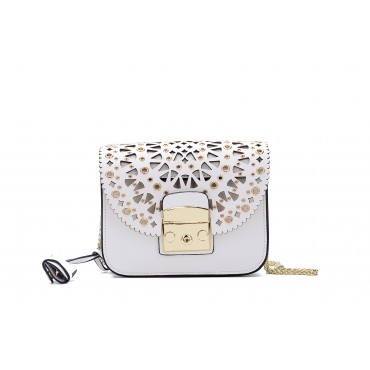 Eldora « Eloise » Genuine Leather Shoulder Bag White 76348